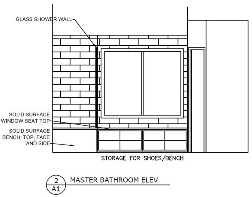 Master Bath Elevation 1