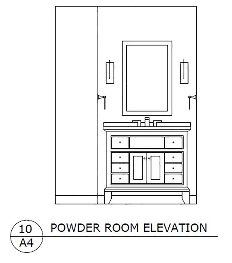 Powder Room Elevation