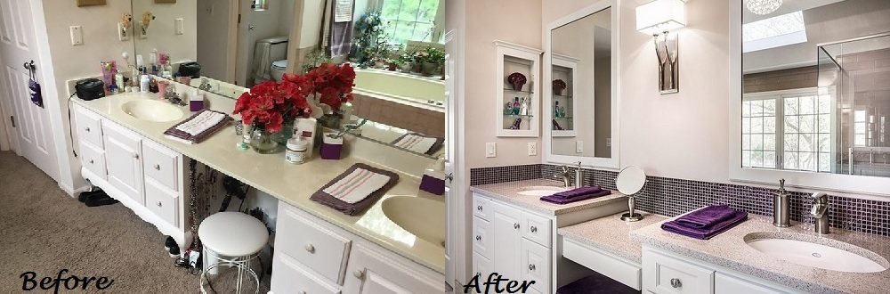 Before and After Bathroom II Design Connection Inc Kansas City Interior Design