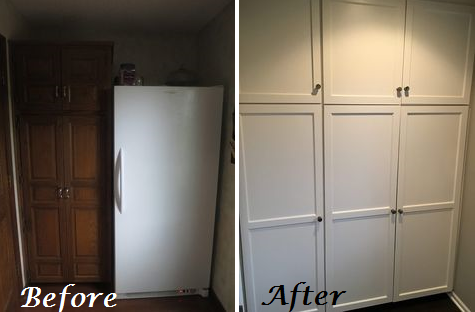Before and After Pantry Remodel Design Connection Inc Kansas City Interior Designer