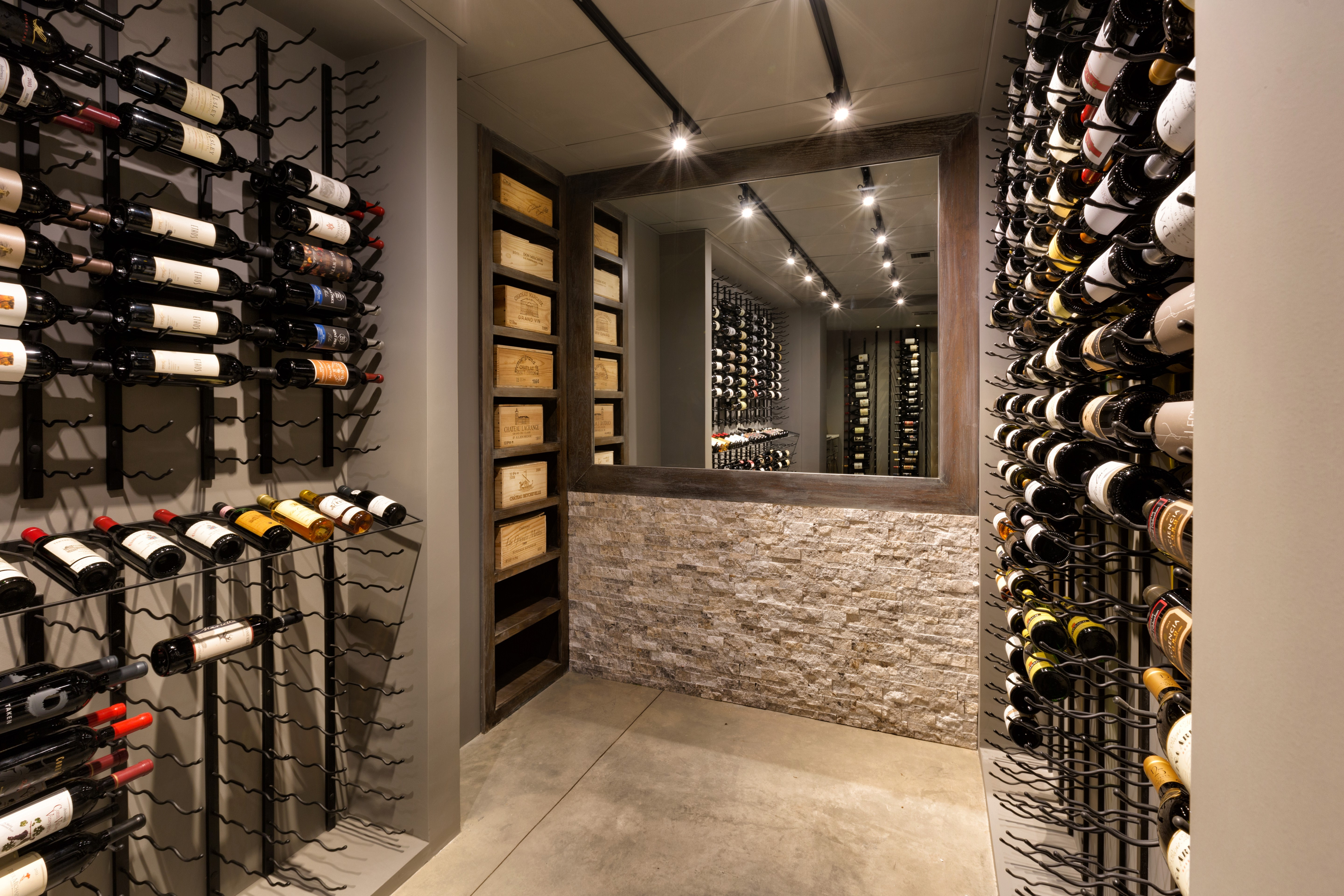 Charming Before And After Wine Cellar Transformation: A Design Connection, Inc.  Featured Project