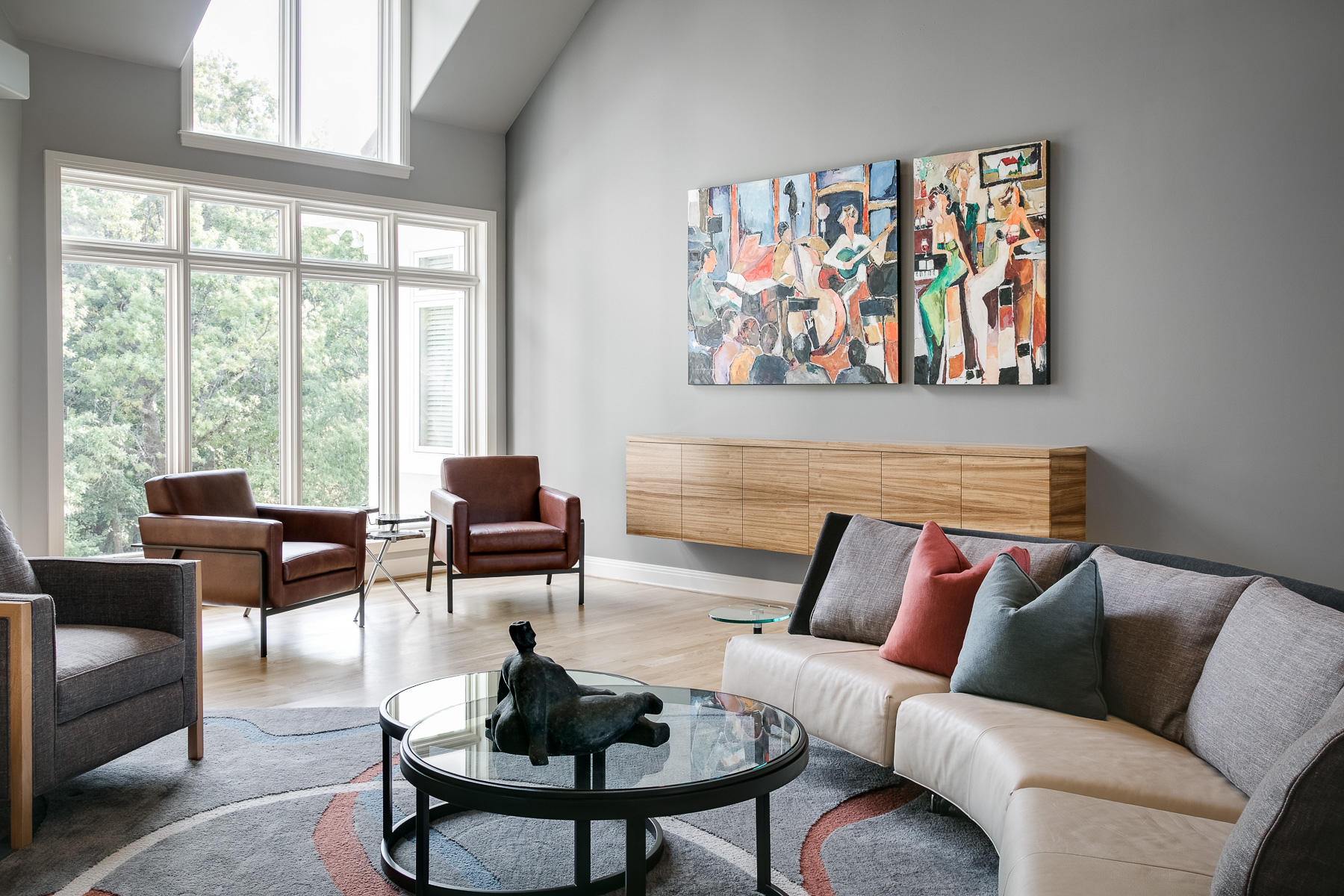 Contemporary Living Spaces: A Design Connection, Inc. Featured Project