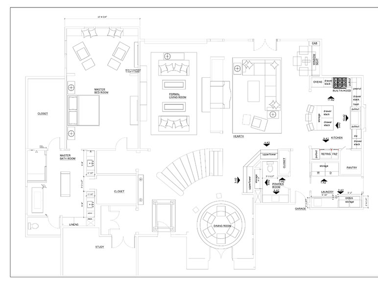 Whole House Floor Plans and Elevations