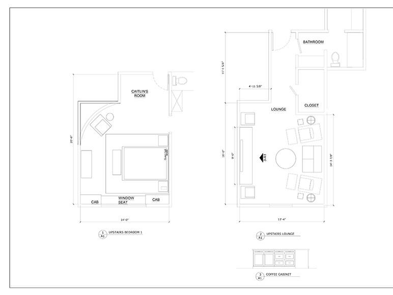 TV Room and Guest Bedroom/Bathroom