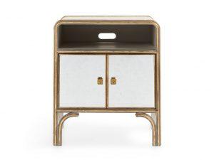 Arhaus Gold and glass nightstand